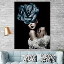 Ultra Modern Abstract Figure wall art canvas poster