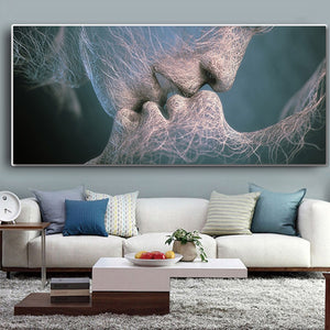 Kiss Abstract Wall Art canvas poster