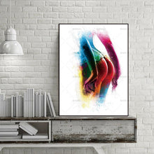 Abstract E wall art canvas poster