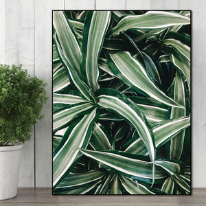 Modular Leaf Wall art canvas poster