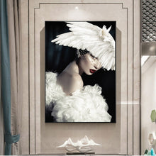 Girl With White Pigeon Canvas Art Paintings