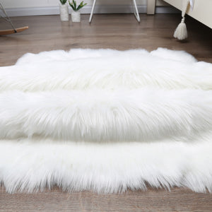 Archi Fluffy Faux Living Room Rug - Modern Hot Living Room ideas