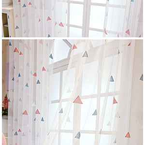 Gorgeous Geometric Triangle Curtains Tulle for Living room