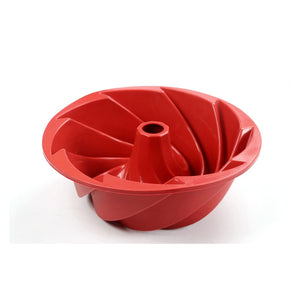 Large Spiral shape silicone Bundt Cake Pan 10- inch