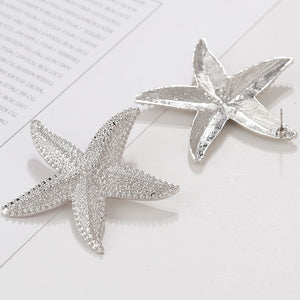 Large Starfish Statement Stud earrings for Women - Ultra Fashion