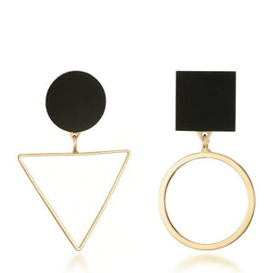 Vintage Big Geometric Drop earrings for women