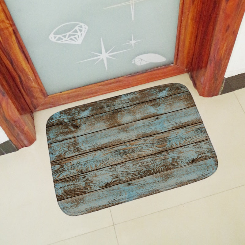Archi Wood Rustic Style Bath Mat - Relaxed Bathroom Design and Home Decor