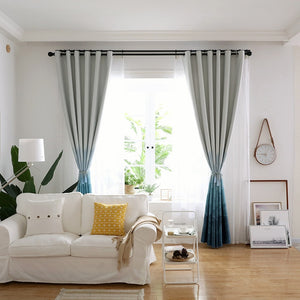 Archi Blackout Gradient Curtains - Apartment Interior Ideas and Vintage Curtains for Windows
