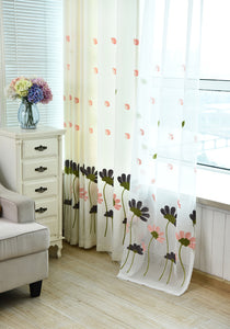 Archi Rustic Summer Flowers Curtains for Living Room