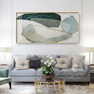 Modern Multi Color Abstract Wall Art Canvas poster