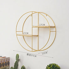 Archi Nordic Style Hexagonal Grid Iron Wall Shelf