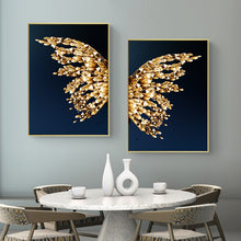 Abstract Butterfly Wings Canvas wall art poster for Premium Interiors