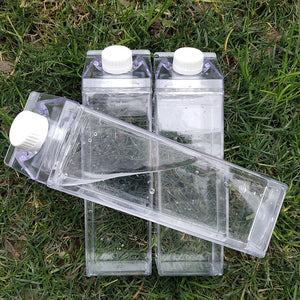 Leak Proof Transparent Milk Water Bottle