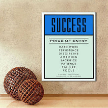 Inspirational Success quote wall art canvas poster
