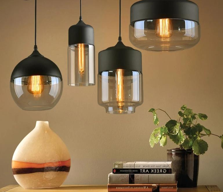 Modern Loft hanging Glass pendant lights