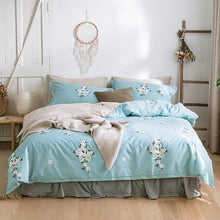Modern Flowers Leaves Ultra Soft Bedding Set