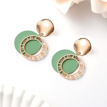 Fashion Statement Round Dangle Drop Earrings