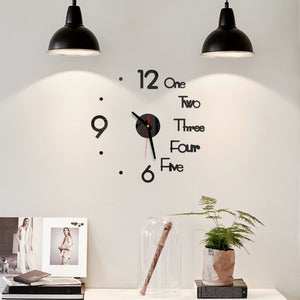 Mirror Sticker wall clock - Exquisite Home Interiors
