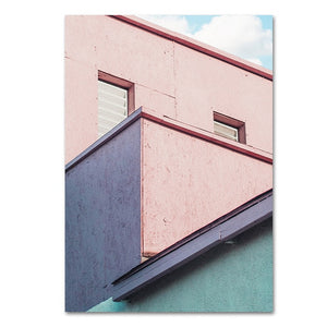 Abstract Building landscape wall art canvas poster