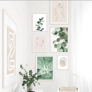 Vintage Plant Wall art Canvas Poster