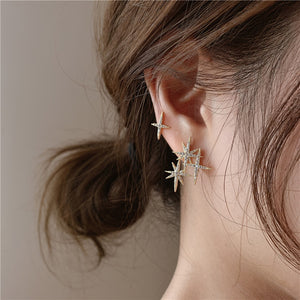 Pointed Star Fashion Stud Earrings for Women
