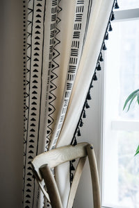 Elegant Lining Curtain with tassels perfect for living room