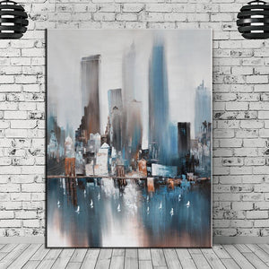 Abstract skyscrapers wall art canvas poster