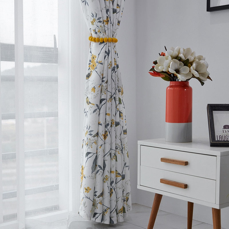 Floral American Curtains for Bedroom