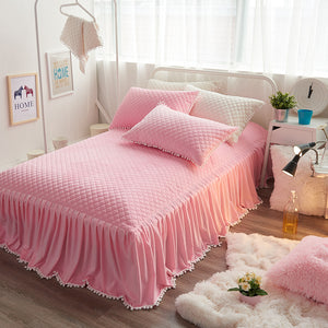 Thick Fleece Warm Bedding set