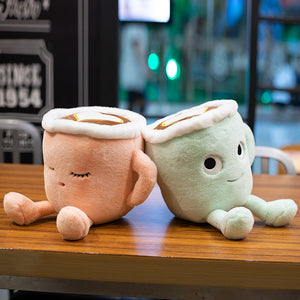 Plush Pillow Cartoon Coffee shaped