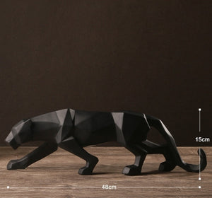 Modern Abstract Black Panther Art Sculpture