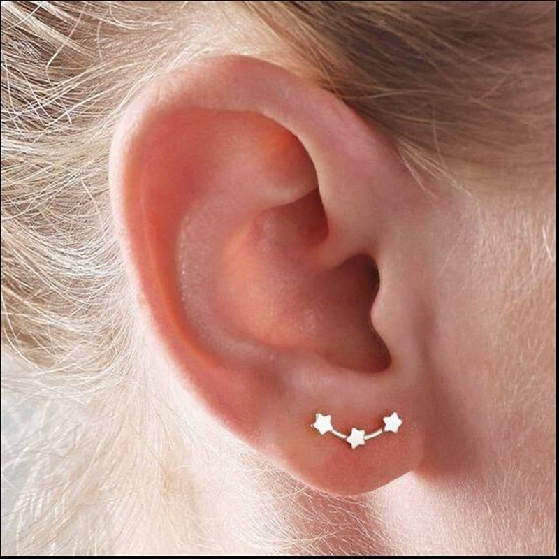 Elegant Minimalist Star earrings for women