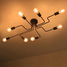 Vintage ceiling lights with 8 heads retro industrial Style