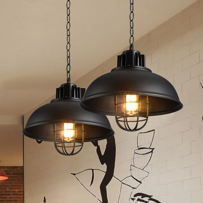 Retro Pendant Lights Industrial cage
