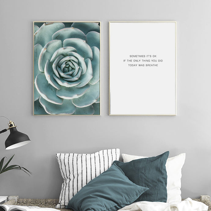 Succulent Flower Wall Art