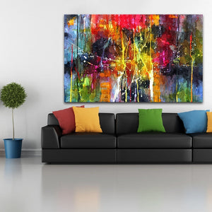 Ultra Modern Abstract colorful painting wall art canvas poster