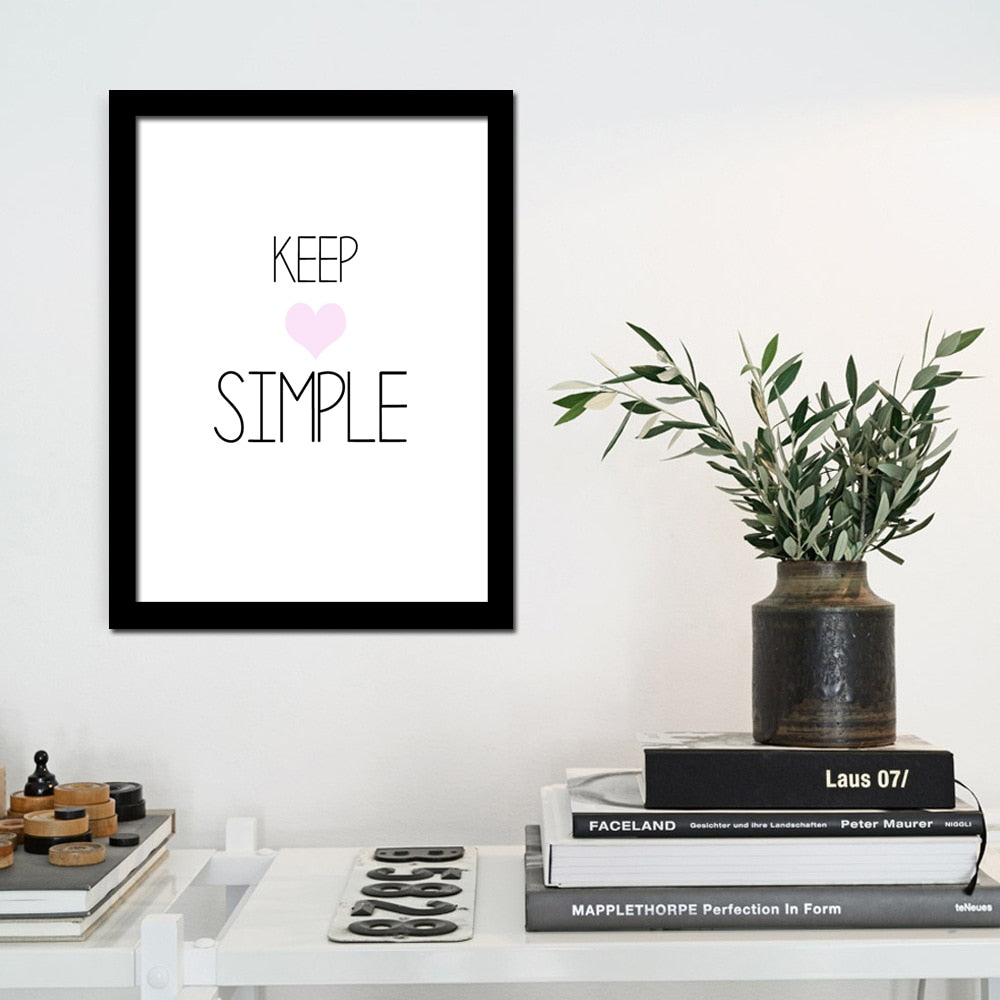 Keep Simple Wall Art Canvas Poster