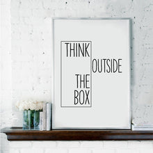 Motivational Quote Wall Art Canvas Poster