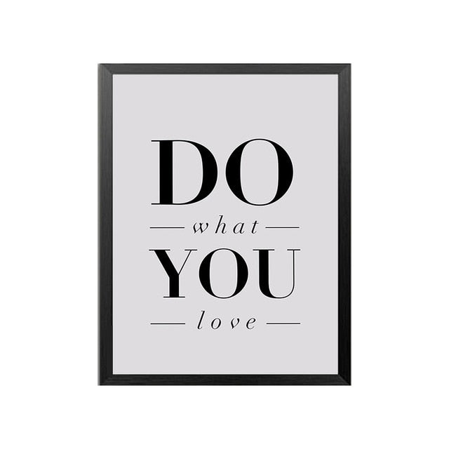 Do What You Love Inspirational Quote Canvas Wall Art Poster