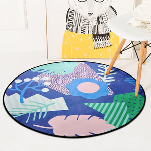 Archi European Geometric Round Rug for Living Room - Modern Small Home Decor ideas and Interior Design