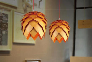 Modern Art Oak Pendant Lights