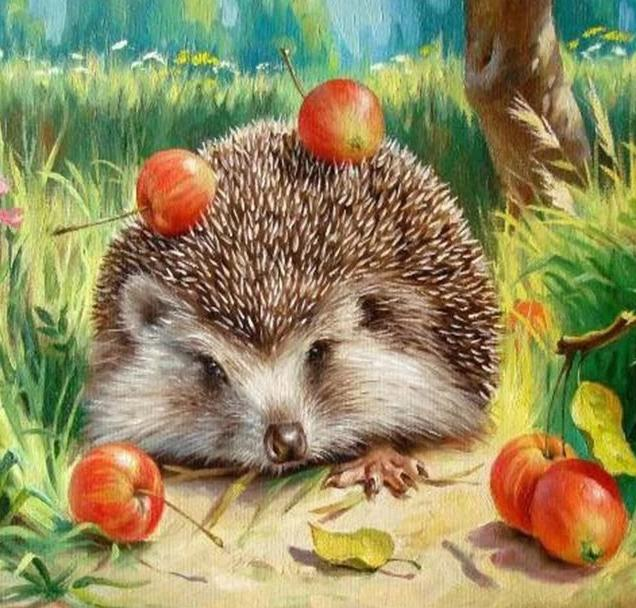 Hedgehog DIY Painting wall art canvas poster