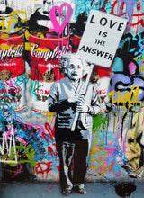 Modern Einstein Pop Graffiti Wall Art Canvas Poster