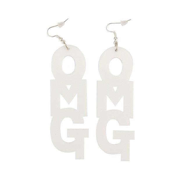Hip Hop Long Acrylic Earrings