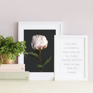 Inspirational Quote Typography wall art canvas poster