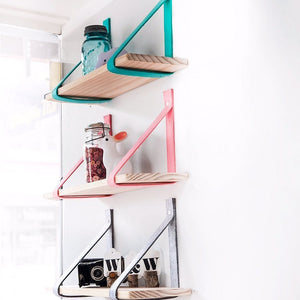 Nordic Style Metal Wall Shelf - Home Decoration