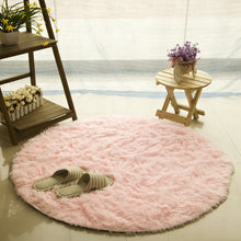 Archi Faux Fur round carpet for living room