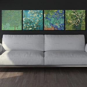 4Pcs/Sets Modern Wall Art Almond Blossoms