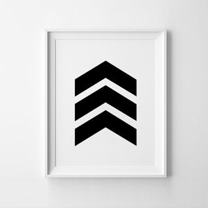 Chevron Art paper poster for wall