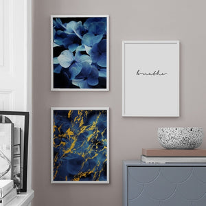 Natural Abstract Flowers Wall Art Canvas
